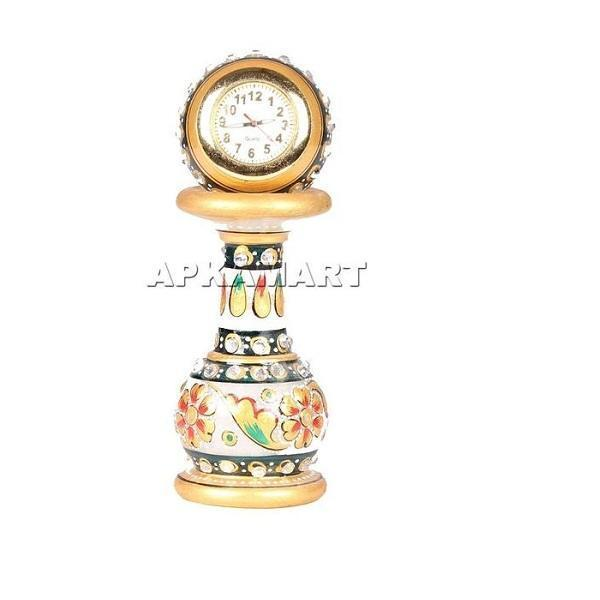 APKAMART Mantle Clock with Stand 4 Inch