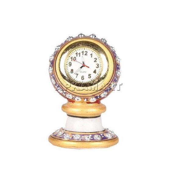 APKAMART Marble Mantle Clock 3 Inch