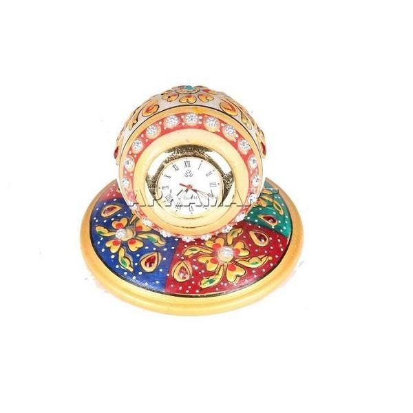 APKAMART Marble Table Clock 3 Inch