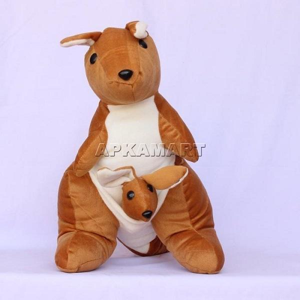 APKAMART Mother &  Baby Kangaroo Soft Toy