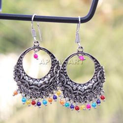 APKAMART Multicolour Bead Dangler Earrings