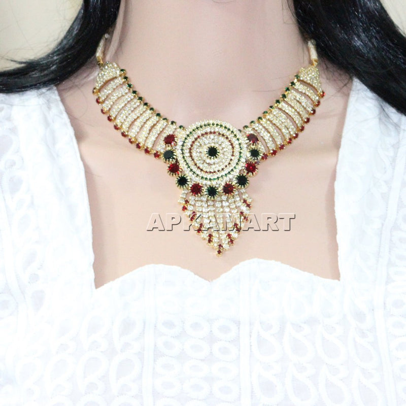APKAMART Multicolour Bridal Necklace