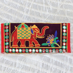 APKAMART Multicolour Traditional Clutch