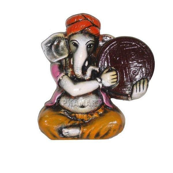 APKAMART Orange Dalphee Ganesh Wall Hanging 10 Inch