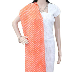 APKAMART Orange Leheriya Dupatta