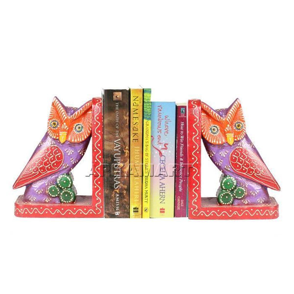 APKAMART Owl Bookend Set 7 Inch