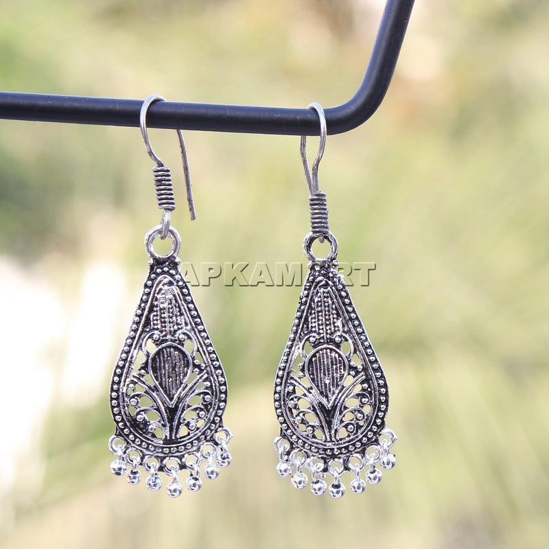 APKAMART Oxidised Dangler Earrings