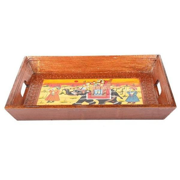 Painting Serving Tray 14 Inch - ApkaMart