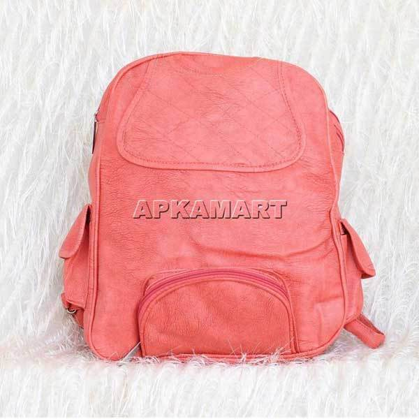 APKAMART Peach Backpack