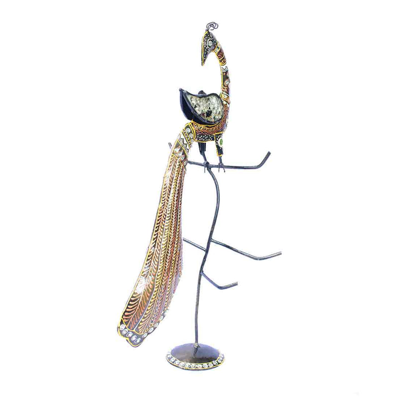 APKAMART Peacock Bangle Stand 19 Inch