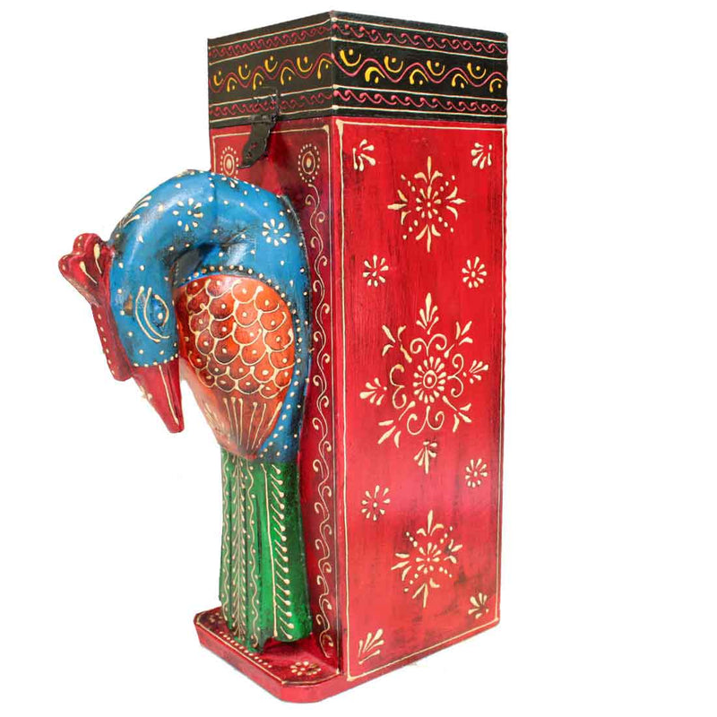 Peacock Bottle Holder 14 Inch