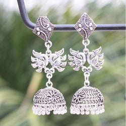 APKAMART Peacock Shaped Jhumkas