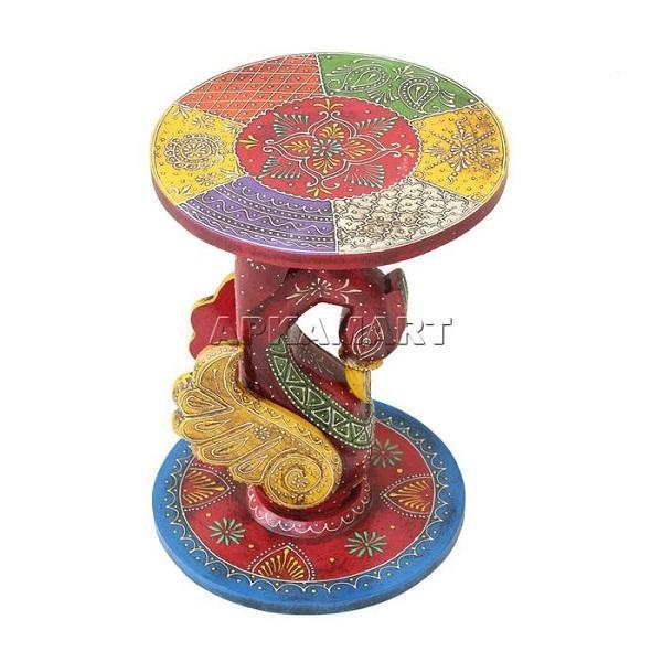 APKAMART Peacock Side Table 16 Inch