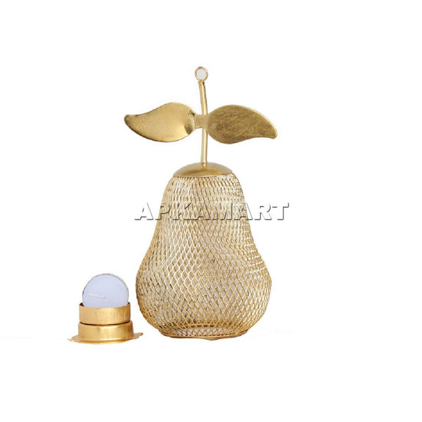 APKAMART Pear T Light Holder 8 Inch