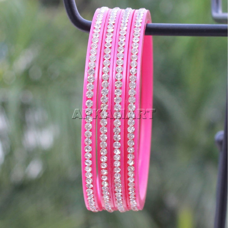 APKAMART Pink Bangle Set