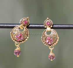APKAMART Pink Golden Earrings