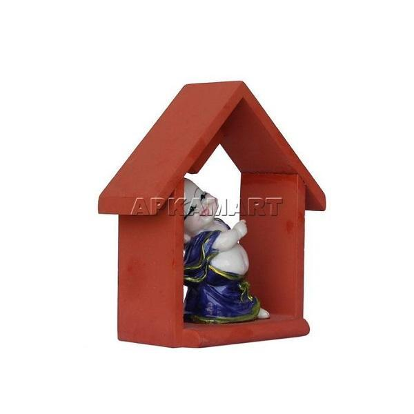 APKAMART Purple Hut Baby Monk Figurine 7 Inch