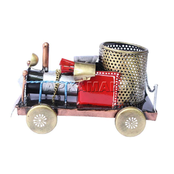 APKAMART Railway Engine Pen Stand 5 inch