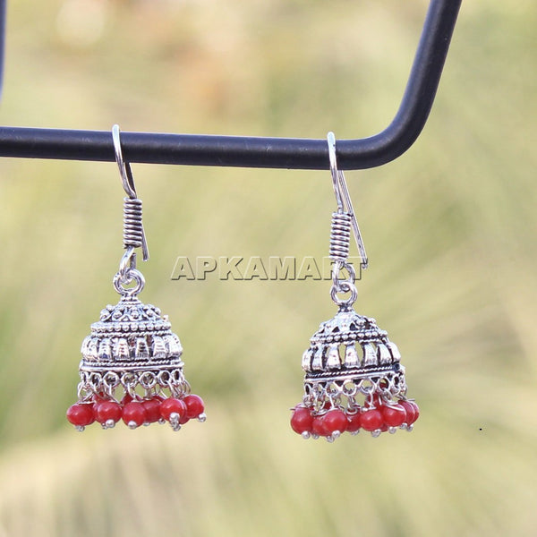 APKAMART Red Dangler Earrings