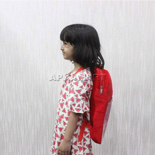 APKAMART Red Printed School Bags