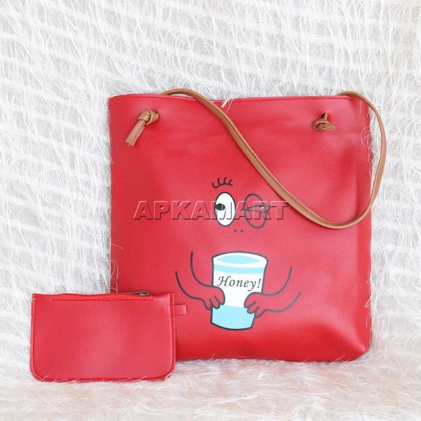 APKAMART Red Tote Bag