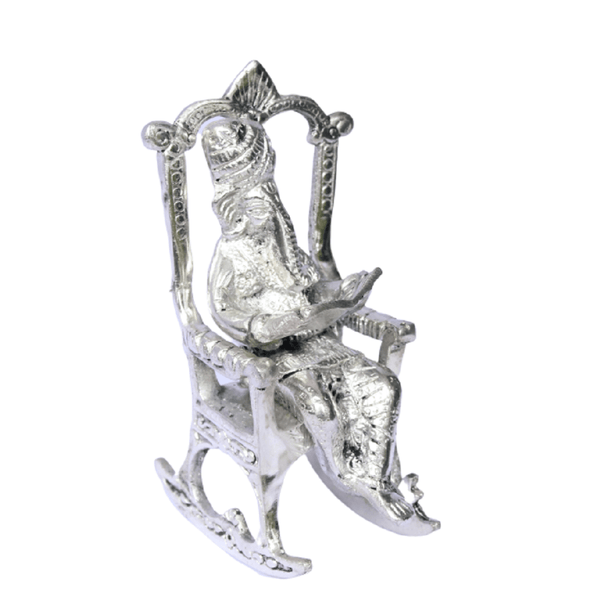 APKAMART Relaxing Chair Ganesh Showpiece 6 inch