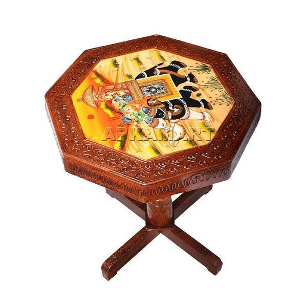 APKAMART Round Side Table Set 20 Inch