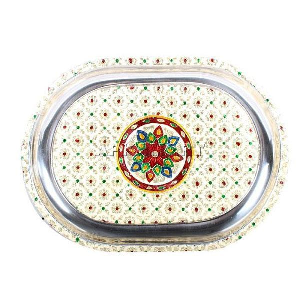 APKAMART Serving Tray 14 Inch
