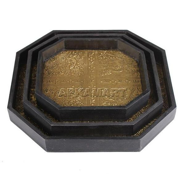 APKAMART Serving Tray Set 12 Inch