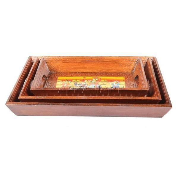 APKAMART Serving Tray Set 14 Inch