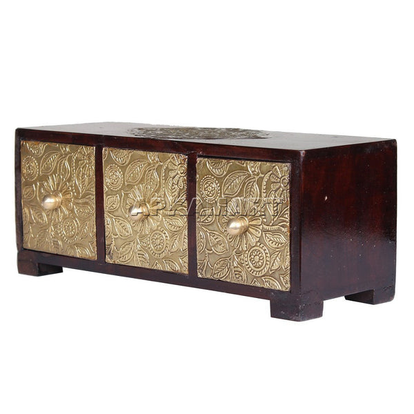 APKAMART Side Table Jewelry Box 10 Inch