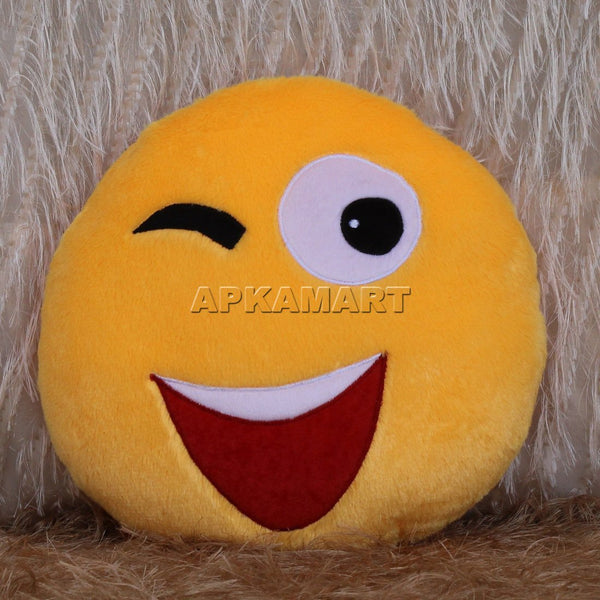 APKAMART Smiley Cushion
