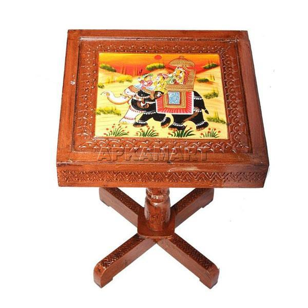 APKAMART Square Side Table 15 Inch
