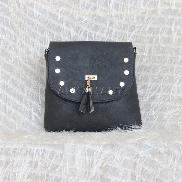 APKAMART Stylish Black Sling Bag