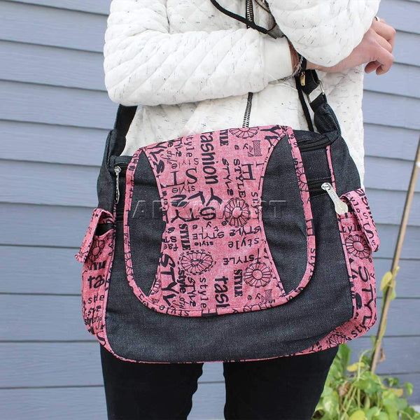 APKAMART Stylish Pink Shoulder Bag
