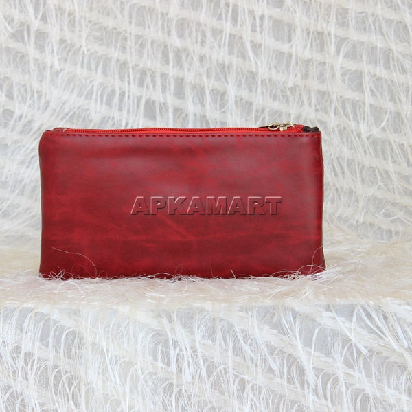 APKAMART Stylish Red Clutch
