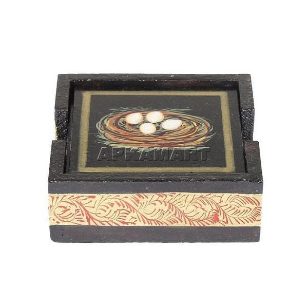 APKAMART Tea Coaster Set 4  Inch