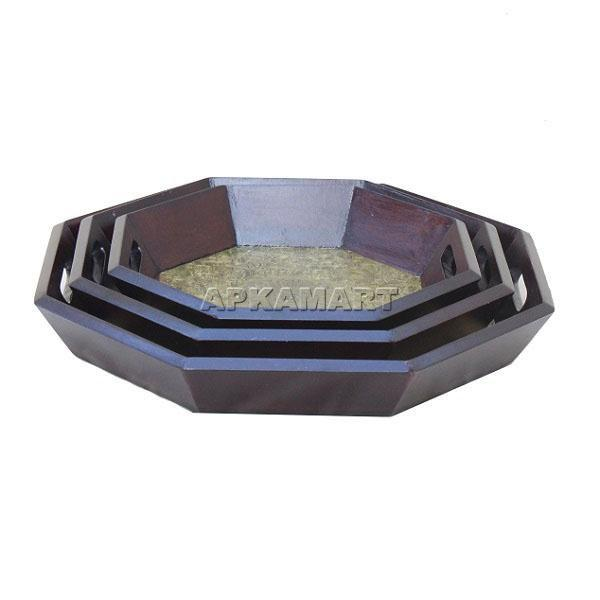 APKAMART Tea Tray Set 15 Inch