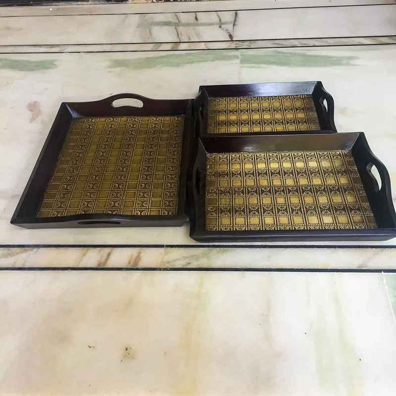 APKAMART Tea Tray Set 16 Inch