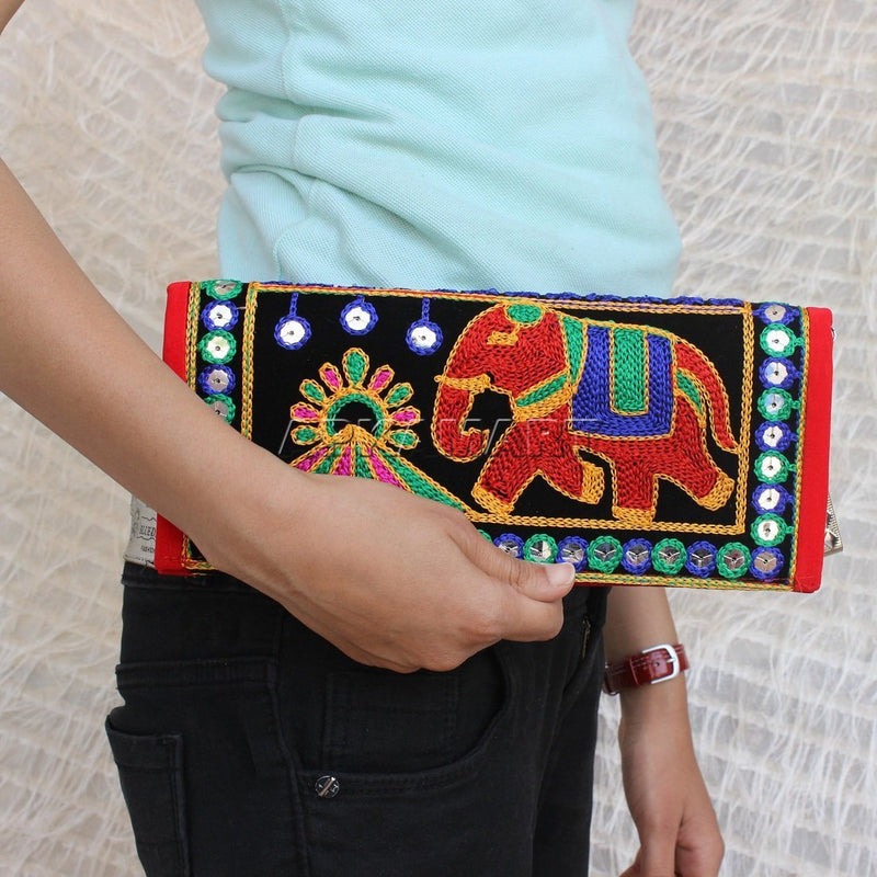 APKAMART Traditional Embroidery Clutch