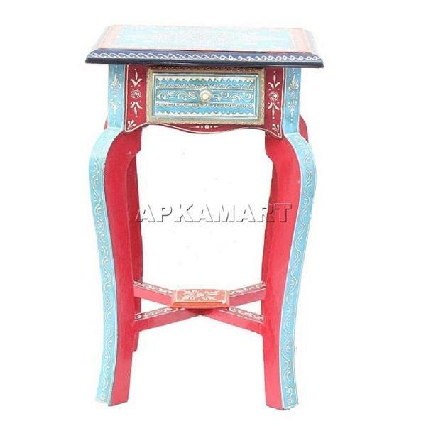 APKAMART Vintage Bedside Table 18 Inch