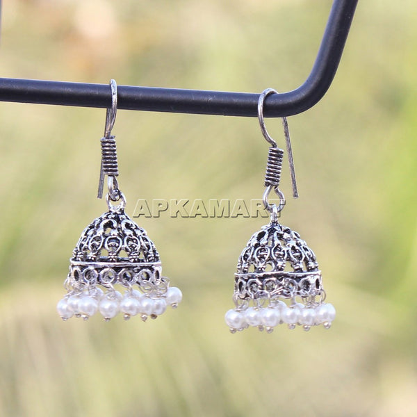 APKAMART White Dangler Earrings