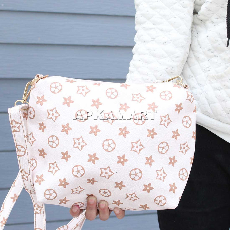 APKAMART White Printed Bag 9 Inch