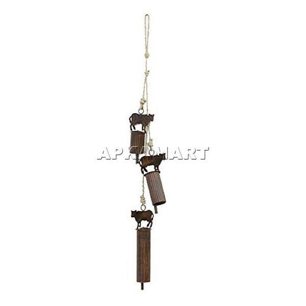 APKAMART Wind Chime Cow Bell 25 Inch