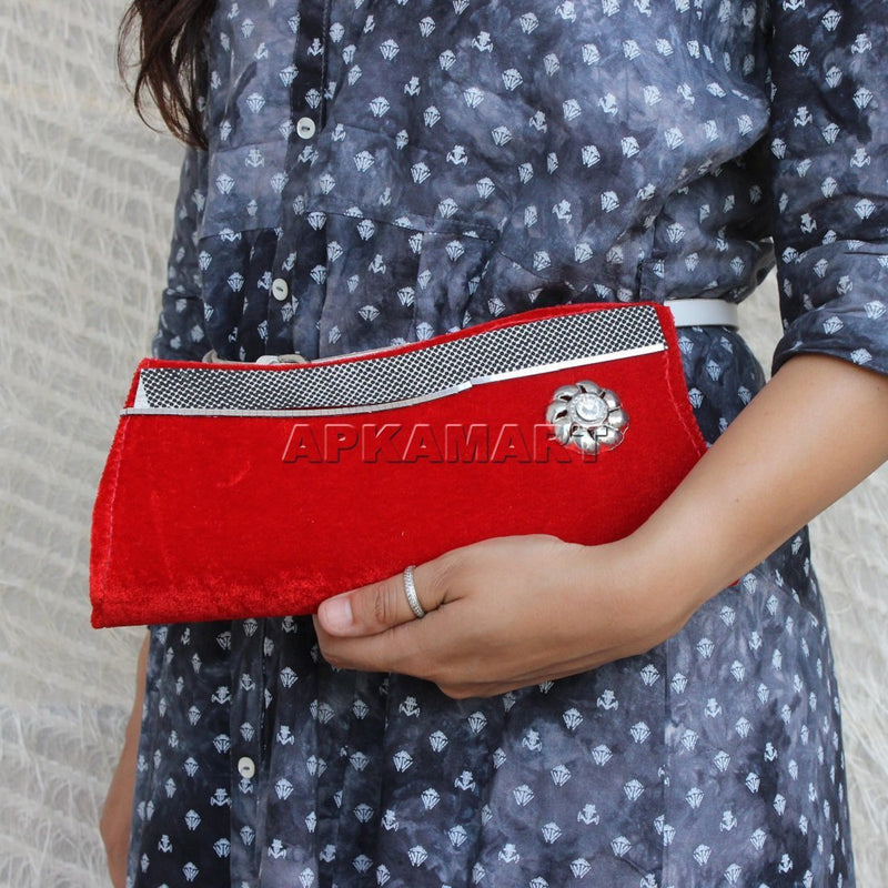 APKAMART Women Party Wear Clutch