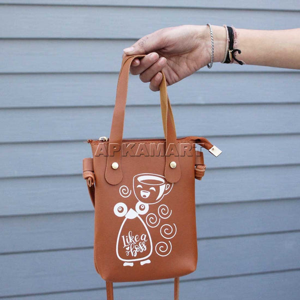APKAMART Women Side Brown Bag 7 inch