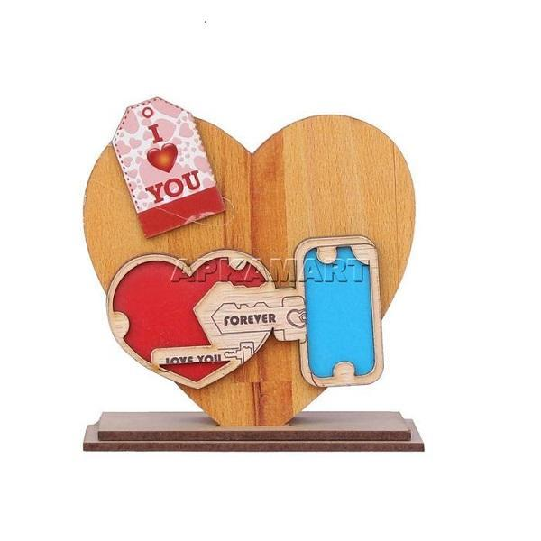 APKAMART Wooden Pen Holder 4 Inch