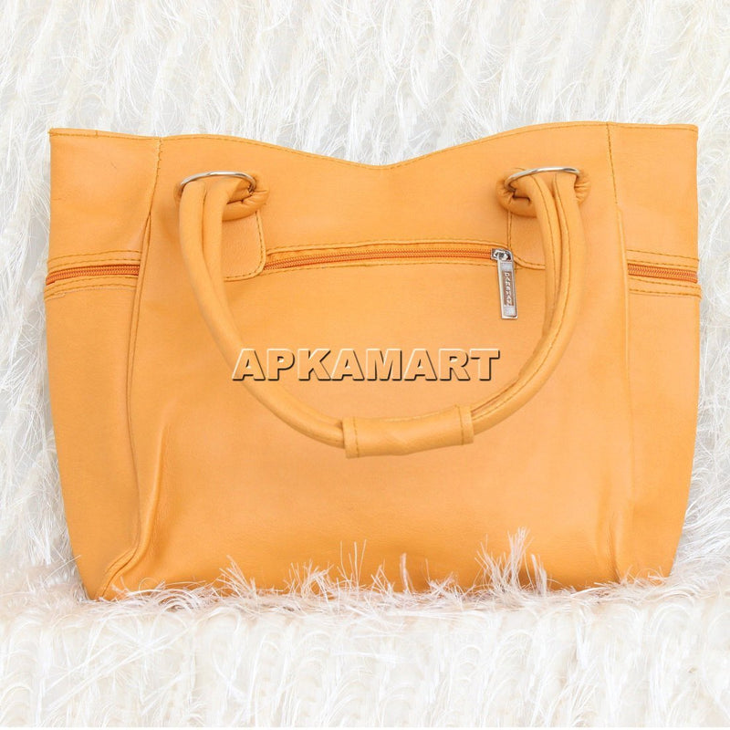 APKAMART Yellow Hand Bag