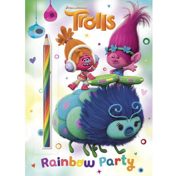 DreamWorks Trolls Rainbow Party Pencil Color and Activity Book