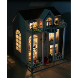 Dream House With Pillars DIY Miniature Dollhose